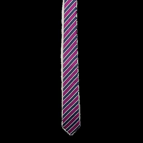 Navy & Purple Stripe Tie