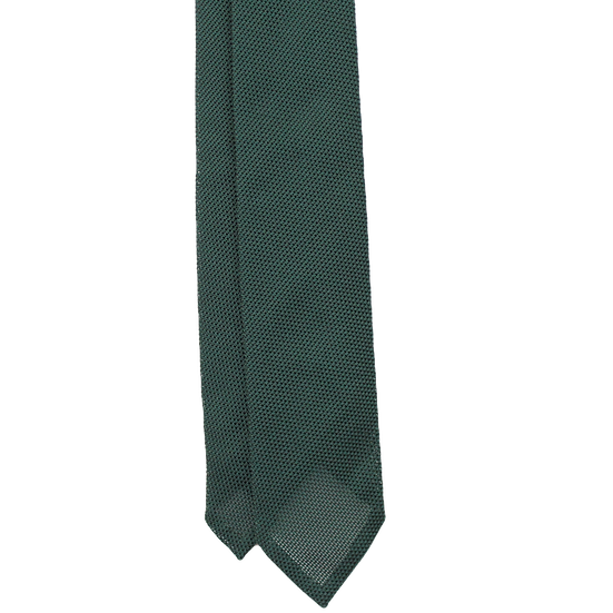 Handrolled Green Grenadine Tie