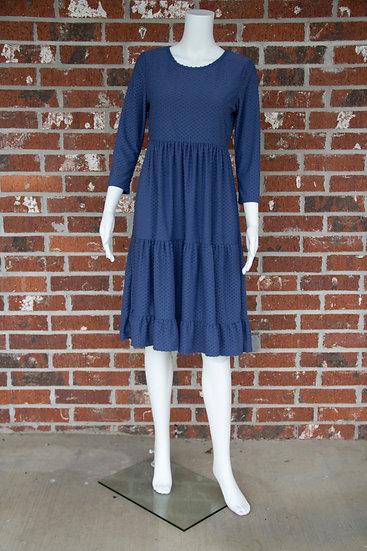 Blue Dot Midi Dress