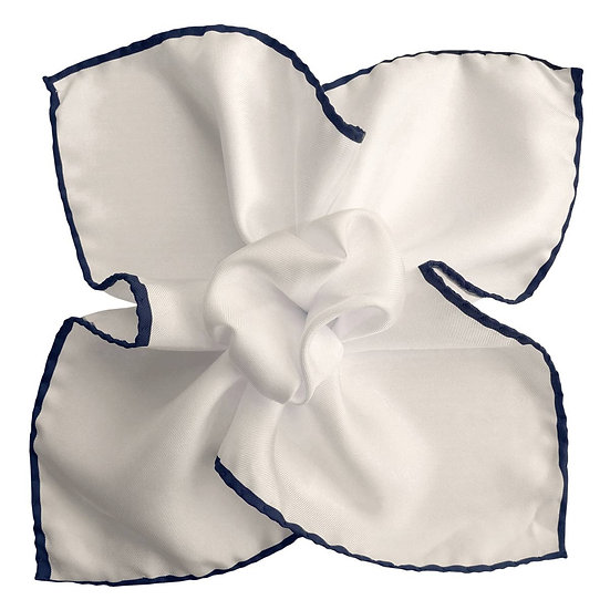 White and Blue Pocket Square