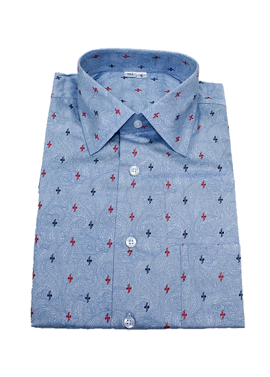 Blue and Red Accented Shirt