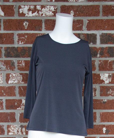 Dark Gray ITY Slinky Shirt