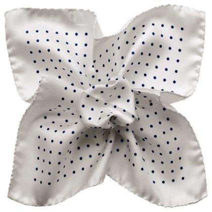 White Pattern Pocket Square
