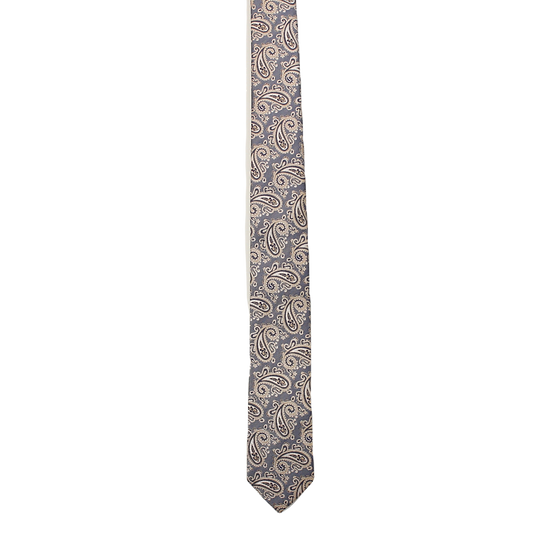 Navy & Gold Paisley Tie