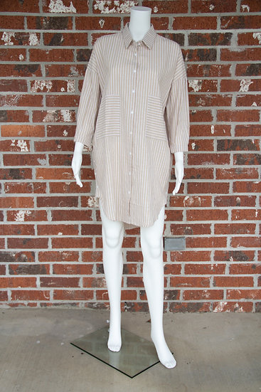 Latte Stripe Shirt