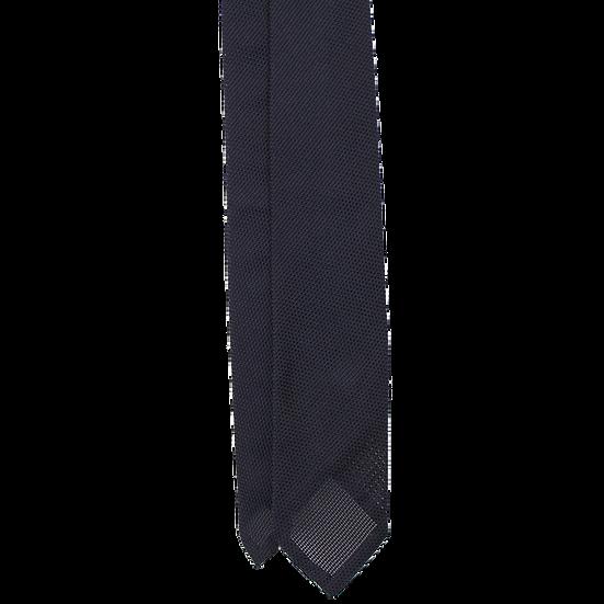 Handrolled Navy Grenadine Tie