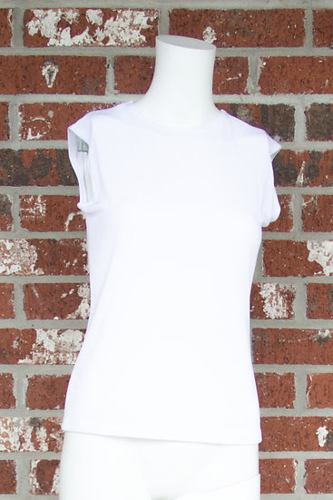 White Fiore Slinky Tank Top