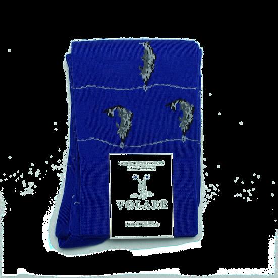 Blue Fish Pattern Socks