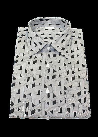 Black Geometric Shirt