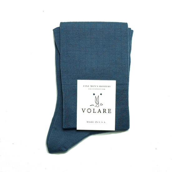 Indigo Blue Ribbed Socks
