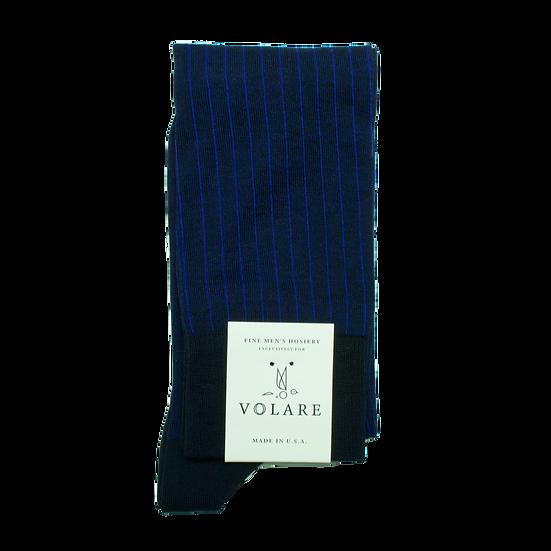 OTC Navy / Clematis Vertical Stripe Socks