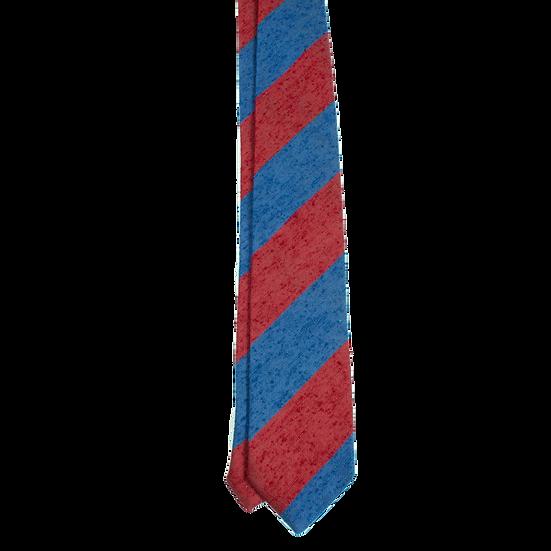 Blue / Red Striped Shantung Tie