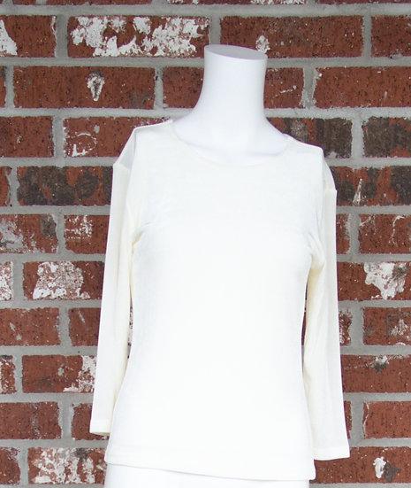 Ivory Fiore Slinky Shirt
