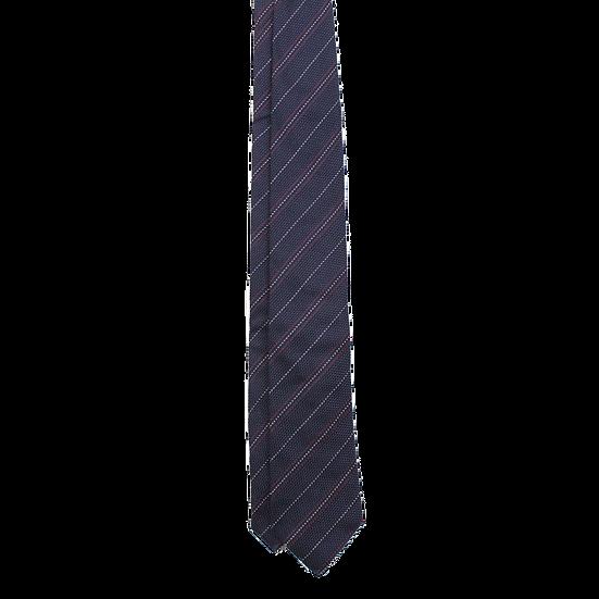 Navy Stripe Grenadine Tie