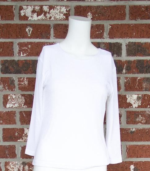 White Fiore Slinky Shirt