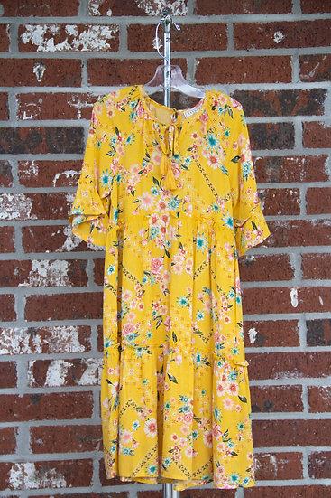Yellow Tassel Dress