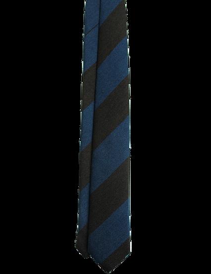 Blue and Brown Stripe Grenadine Tie