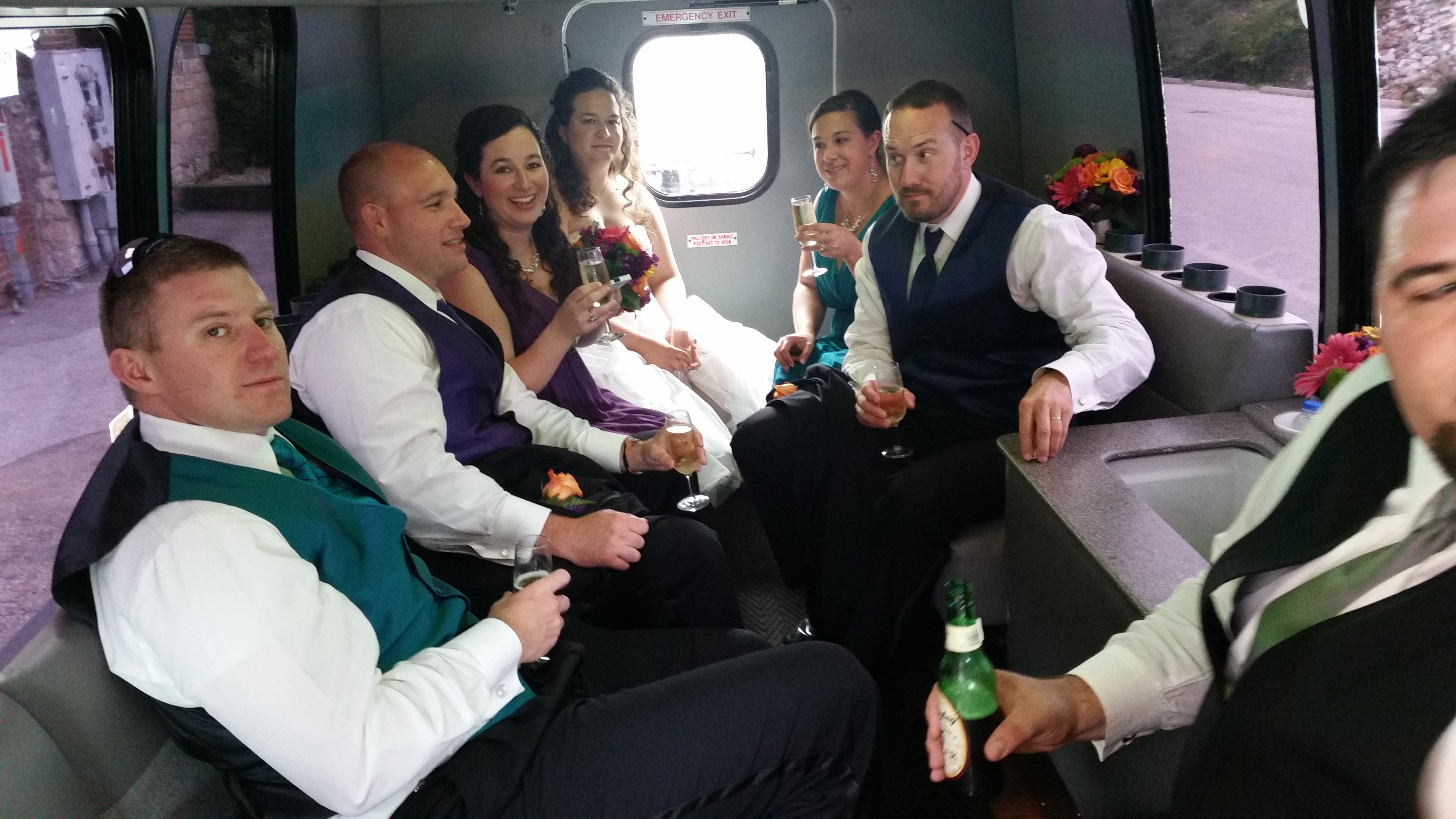 LimoBus to the Reception