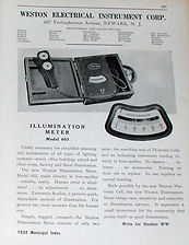 Weston Illumination Meter, Model 603, USA, 1932