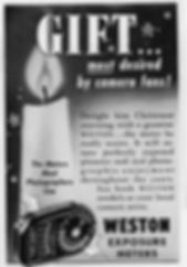 Advertisements, Weston Master, Exposure Meters, Magazines, 1948