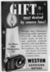 Weston Master II, Advertisement, Magazine, Christmas, Gift