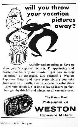 Advertisements, Weston Master II, Exposure Meters, Magazines