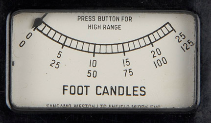 Foot-candles range
