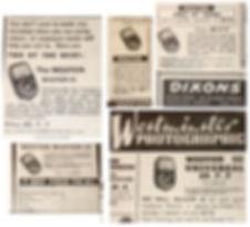 British Advertising, Weston Master III, Model S141.3, Retailer Advertisements