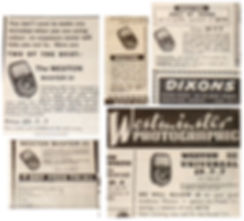 Advertisements, Amateur Photographer, Weston Master III, Dixons, Turners