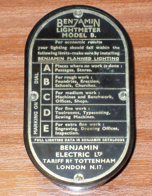 Benjamin (Weston) Light Meter