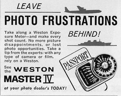 Advertisements, Weston Master IV, Exposure Meters, Magazines, Photo Frustrations