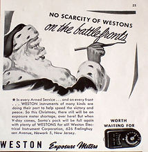 Westons on the Battlefronts, Weston Master Universal, Advertising, Exposure Meter, 1944