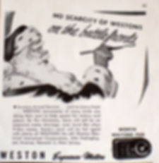 Westons on the Battlefront, Christmas 1944, Weston Exposure Meters, Advertising, Second World War