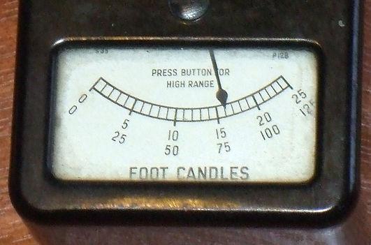 Weston Light Meter, Model S85, Luxmeter, Foot Candles