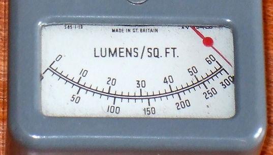 Weston Ligh Meter, Model S85, Lux Meter, Lumens per Square Foot