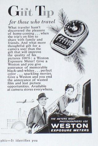 Advertisements, Weston Master III, Exposure Meters, Magazines, Gift Tip