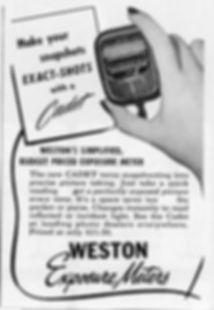 Weston Exposure Meter, Advertising, Direct Reading, Cadet