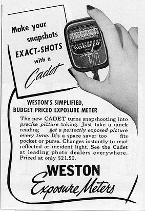 Advertisements, Weston Cadet, Exposure Meters, Magazines