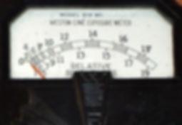 Weston Meter Relative Brightness Scale