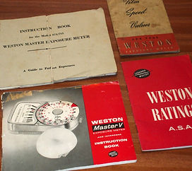 Weston Exposure Meter Instruction Books