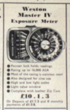 Weston Master IV, Universal Exposure Meter, Amateur Photographer, Dollonds, Dixons