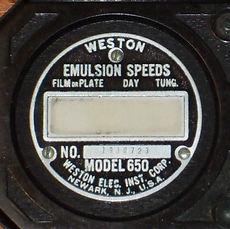Weston Photronic 650 back plate