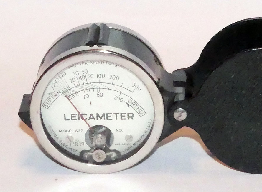 Weston Exposure Meter, Leicameter, 627, loupe