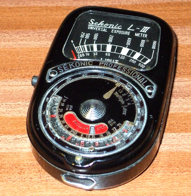 Sekonic Professional Universal Model L-III Exposure Meter