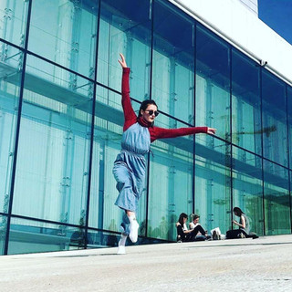 Dancing on the roof of the Oslo Opera House