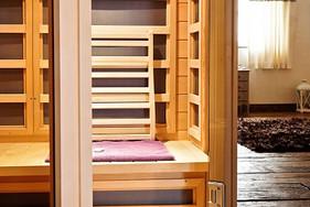 cabine sauna infra rouge dans la suite
