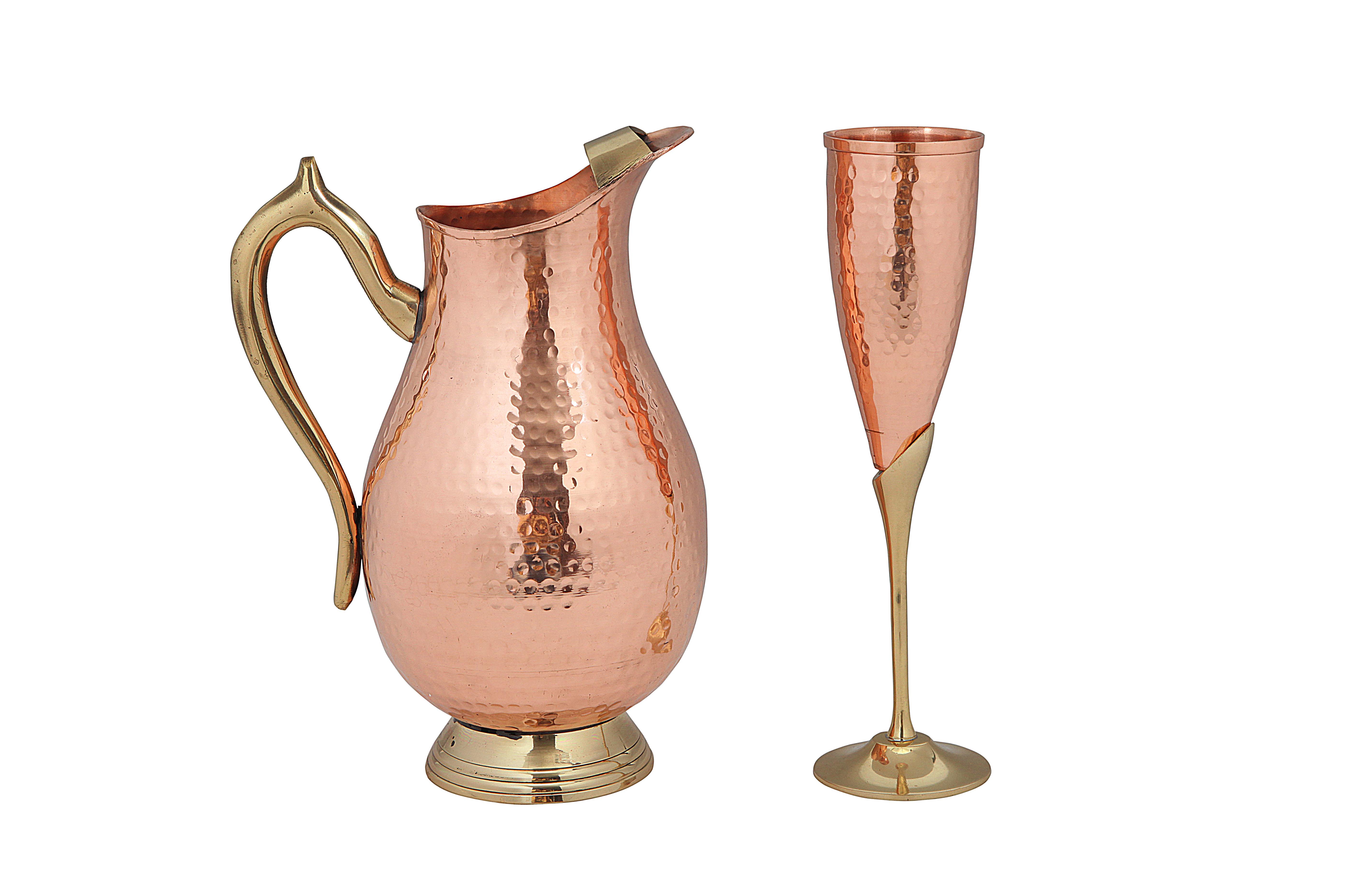 Pure Copper Jug & Goblet