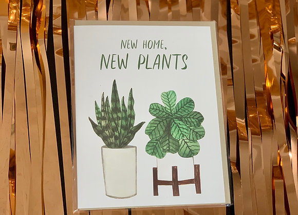 New Home, New Plants Card
