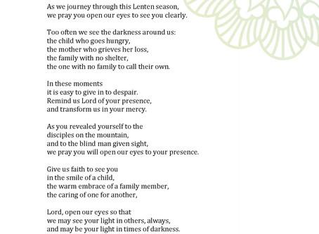 Catholic Relief Services Lenten Prayer