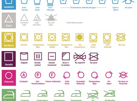 Consejos de lavado de la ropa.